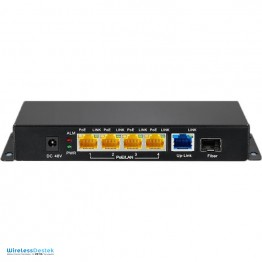 ZT-1005HP 5 Port 48 Volt Gigabit 120 Watt Aktif PoE Ethernet Switch (Port Başı 30 Watt)